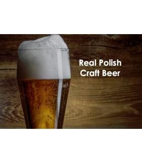 Piwo z etykietą dedykowaną i kartonikiem z logo