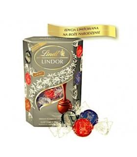 LINDT-LINDOR SILVER CORNET 8x200g. Świąteczna edycja pralin Lindor mix smaków Cornet