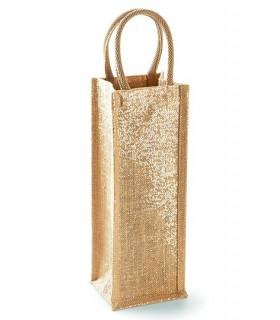 WM433 torba na alkohol 98% juta / 2% metalizowane włókno, uchwyty: 100% bawełna
