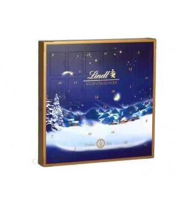 LINDT_ Mini kalendarz adwentowy z czekoladą mleczną oraz nadziewanymi czekoladkami lindt.
