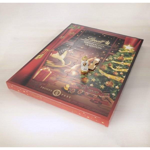 LINDT - XMAS TRADITION CALENDAR 5x253g Maxi kalendarz adwentowy z pralinkami oraz czekoladą mleczną lindt.
