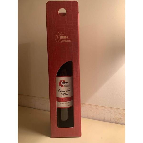 Kartonik do wina z okienkiem