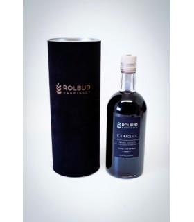 Butelka apollinius 500ml. korek drewniany. Dedykowana etykieta. Tuba z korka lub zamszu, grawer z logo