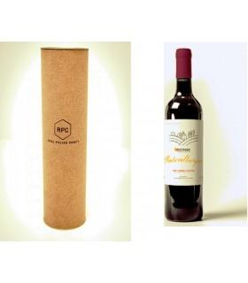 Zestaw prezentowy z Winem, projekt etykiety, TUBA wieczko i logo grawerowane