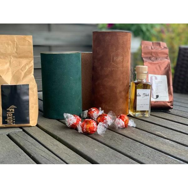 TUBA, KAWA,  ALKOHOL, LINDT- zestaw prezentowy z logo