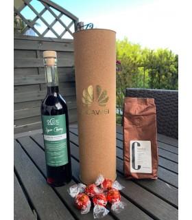 Zestaw świąteczny z alkoholem 500ml, kawa 100g, 5 sztuk LINDOR