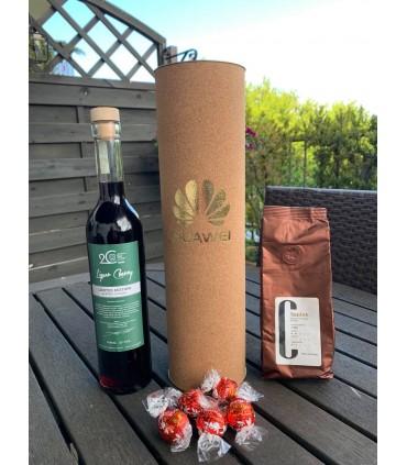 Zestaw świąteczny FUTURA30, z alkoholem 500ml, kawa 100g, 5 sztuk LINDOR