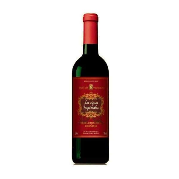 Wino czerwone wytrawne Francja Les Vignes Impériales Rouge